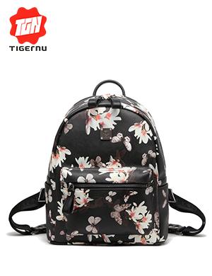 泰格奴双肩包女韩版PU时尚印花潮流小背包学生迷你书包休闲旅行包