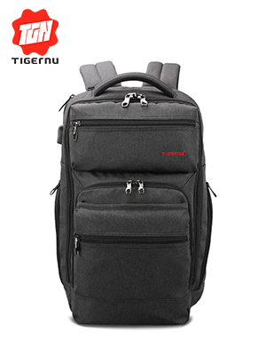 2017 Fashion Tigernu Brand 15.6inch Laptop Backpack USB Charge Computer Bag Backpack for men &women