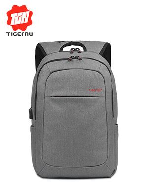 泰格奴韩版双肩包休闲男士高中学生书包女商务旅行包防盗电脑背包