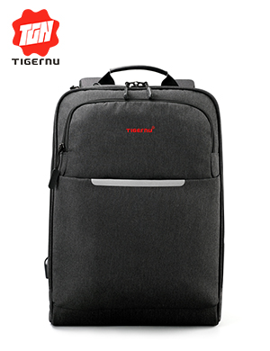 "2017 Tigernu Brand USB Charge Men Backpack Anti-theft Mochila 14-15""Notebook Backpack Waterproof Mal"