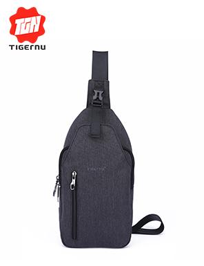 泰格奴男士胸包简约牛津布斜跨包韩版休闲单肩小背包运动包潮